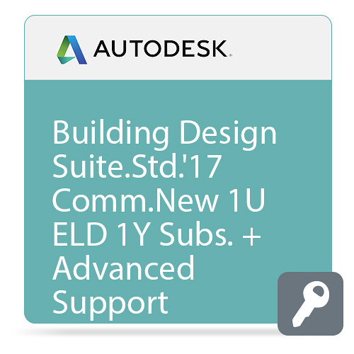 Autodesk Building Design Suite Ultimate 2017 Commercial New Single-user ELD Annual Subscription - Advanced Support