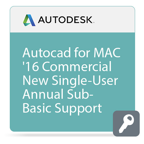 Autodesk AutoCAD for Mac 2016 Commercial New Single-user ELD Annual Subscription - Basic Support