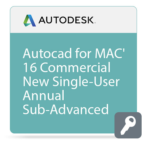 Autodesk AutoCAD for Mac 2016 Commercial New Single-user ELD Annual Subscription - Advanced Support