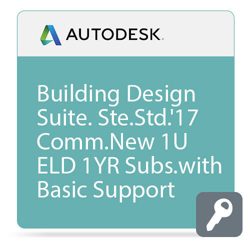 Autodesk Building Design Suite Standard 2017 Commercial New Single-user ELD Annual Subscription - Basic Support