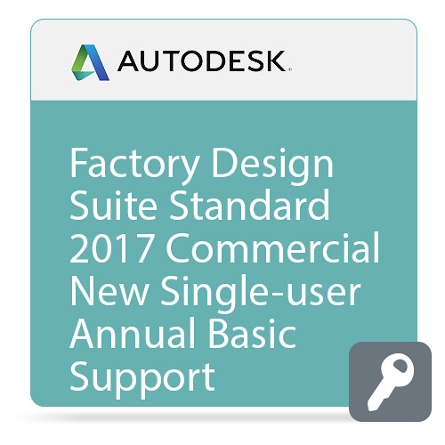 Autodesk Factory Design Suite Standard 2017 Commercial New Single-user ELD Annual Subscription - Basic Support