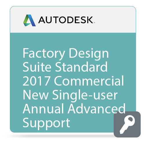 Autodesk Factory Design Suite Standard 2017 Commercial New Single-user ELD Annual Subscription - Advanced Support