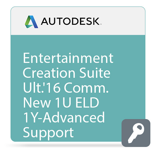 Autodesk Entertainment Creation Suite Ultimate 2016 Commercial New Single-user ELD Annual Subscription - Advanced Support