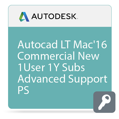Autodesk AutoCAD LT for Mac 2016 Commercial New Single-user ELD Annual Subscription with Advanced Support PROMO - Subscribe
