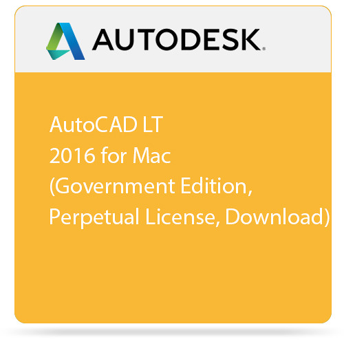 Autodesk AutoCAD LT 2016 for Mac (Government Edition, Perpetual License, Download)