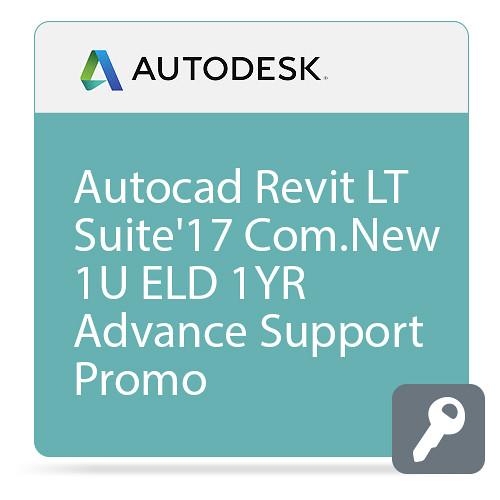 Autodesk AutoCAD Revit LT Suite 2017 Commercial New Single-user ELD Annual Subscription - Advanced Support - PROMO