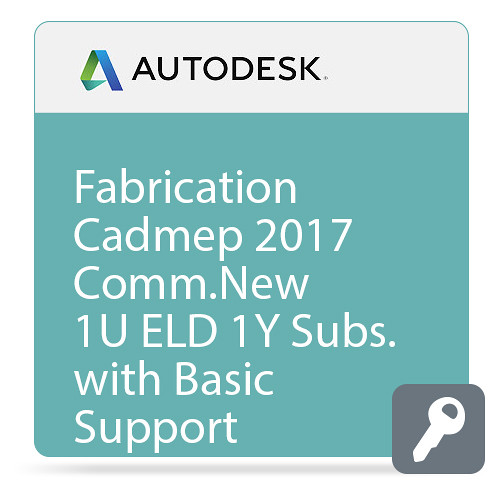 Autodesk Fabrication CADmep 2017 Commercial New Single-user ELD Annual Subscription with Basic Support