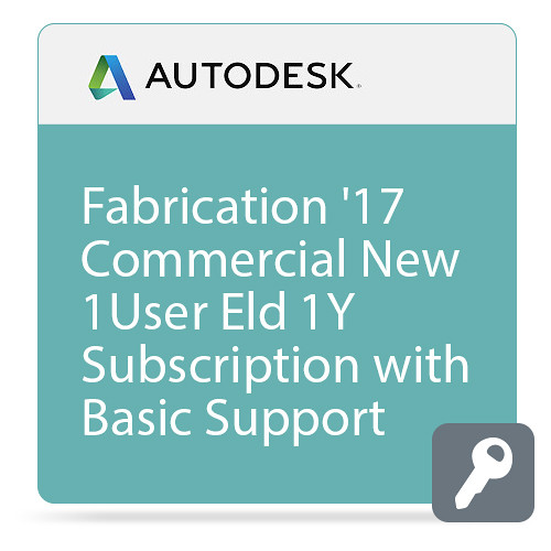 Autodesk Fabrication ESTmep 2017 Commercial New Single-user ELD Annual Subscription - Basic Support
