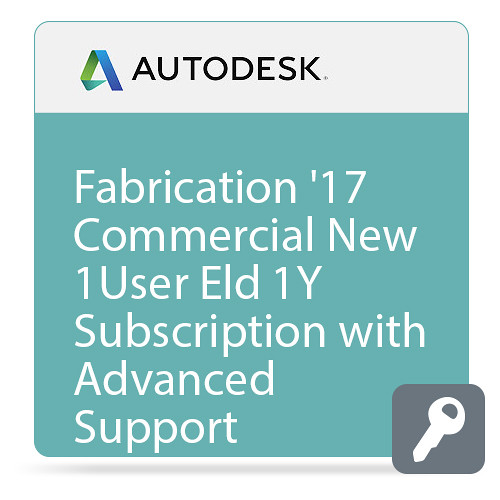 Autodesk Fabrication ESTmep 2017 Commercial New Single-user ELD Annual Subscription - Advanced Support
