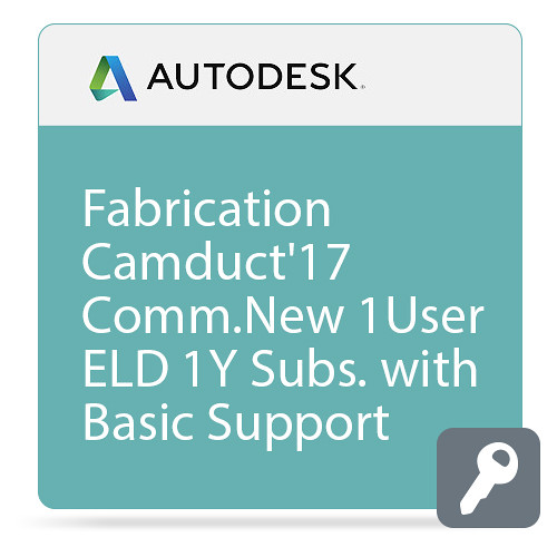 Autodesk Fabrication CAMduct 2017 with Basic Support (1-Year Subscription, Download)
