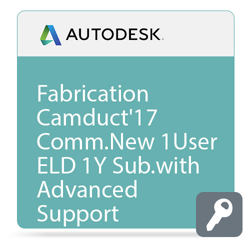 Autodesk Fabrication CAMduct 2017 with Advanced Support (1-Year Subscription, Download)