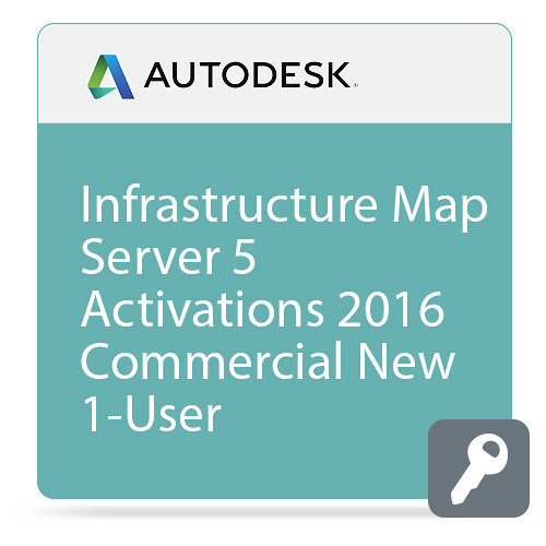 Autodesk Infrastructure Map Server 5 Activations 2016 Commercial New Single-user ELD