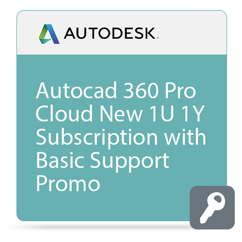 Autodesk AutoCAD 360 Pro Cloud Commercial New Single-user Annual Subscription with Basic Support