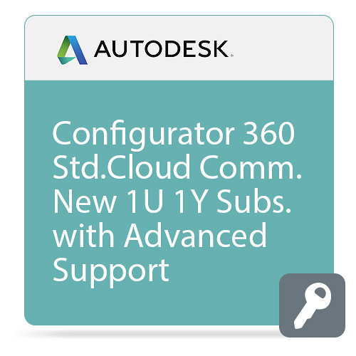 Autodesk Configurator 360 - Standard CLOUD Commercial New Single-user Annual Subscription - Advanced Support