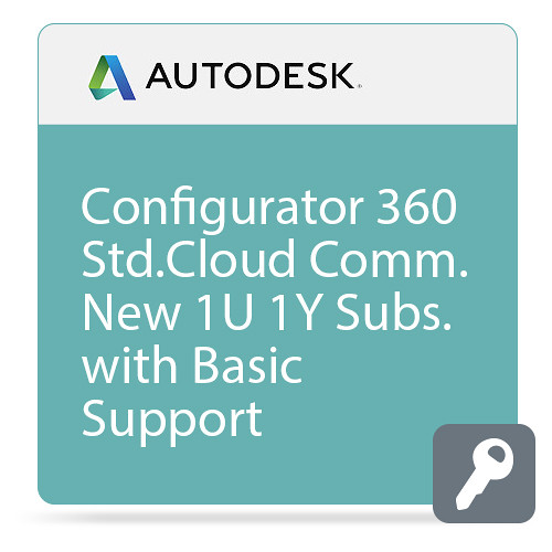 Autodesk Configurator 360 - Standard CLOUD Commercial New Single-user Annual Subscription - Basic Support