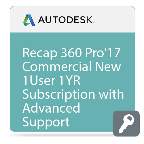 Autodesk ReCap 360 PRO 2017 Commercial New Single-user Annual Subscription - Advanced Support
