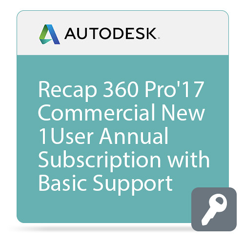 Autodesk ReCap 360 PRO 2017 Commercial New Single-user Annual Subscription - Basic Support