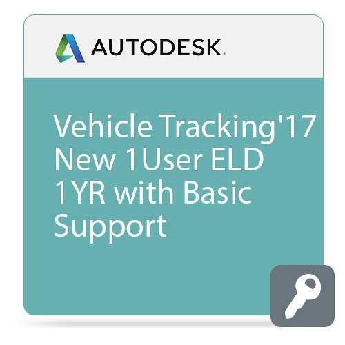 Autodesk Vehicle Tracking 2017 Commercial New Single-user ELD Annual Subscription - Basic Support