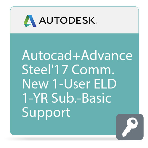 Autodesk AutoCAD with Advance Steel 2017 with Basic Support (1-Year Subscription, Download)