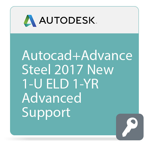 Autodesk AutoCAD with Advance Steel 2017 with Advanced Support (1-Year Subscription, Download)