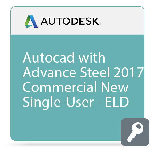 Autodesk AutoCAD with Advance Steel 2017 Commercial New Single-user ELD