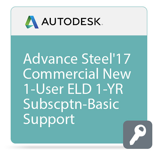 Autodesk Advance Steel 2017 with Basic Support (1-Year Subscription, Download)