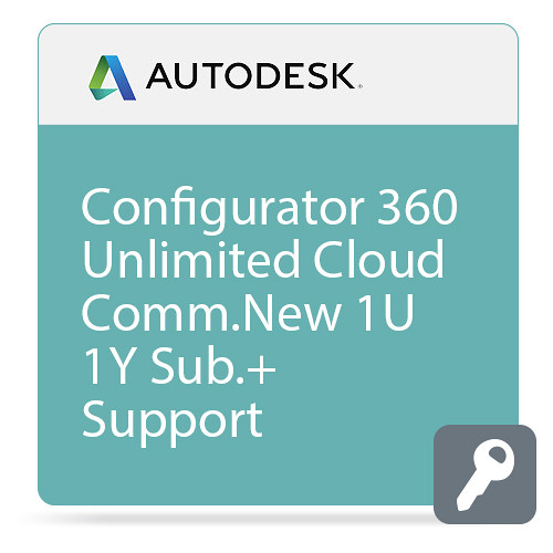 Autodesk Configurator 360 - Unlimited Configurations CLOUD Commercial New Single-user Annual Subscription - Advanced Support