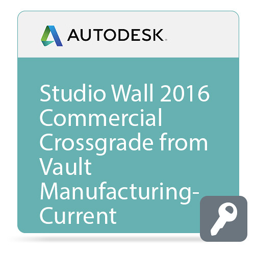 Autodesk Studio Wall 2016 Commercial Crossgrade from Vault Manufacturing - Current Version