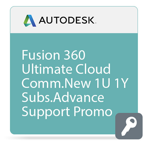 Autodesk Fusion 360 Ultimate CLOUD Commercial New Single-user Annual Subscription - Advanced Support