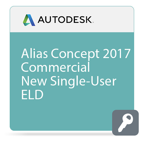 Autodesk Alias Concept 2017 Commercial New Single-user ELD