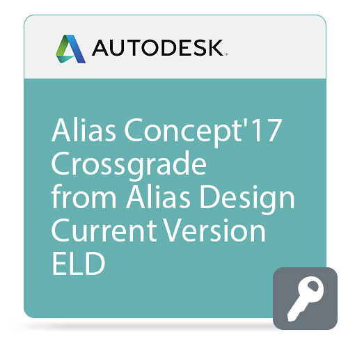 Autodesk Alias Concept 2017 Commercial Crossgrade from Alias Design Current Version ELD