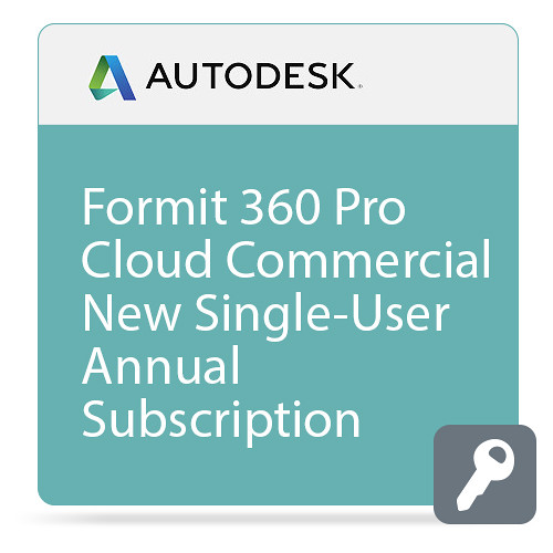 Autodesk Formit 360 Pro Cloud Commercial New Single-user Annual Subscription