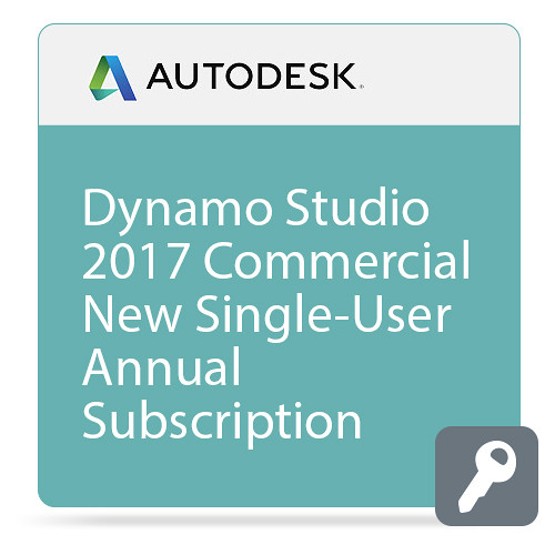 Autodesk Dynamo Studio 2017 Commercial New Single-user Annual Subscription - Basic Support