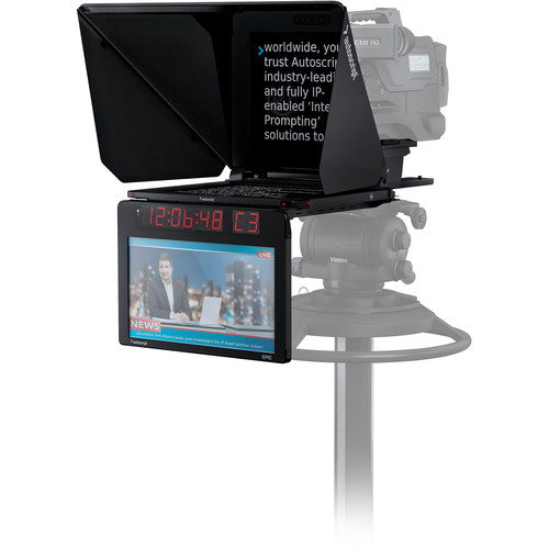 """Autoscript Epic-IP On-Camera Package with 15"""" Prompt Monitor and Integrated 15"""" Talent Monitor"""
