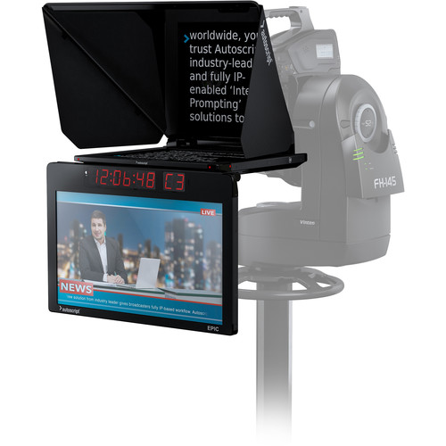 """Autoscript Epic-IP 19"""" Prompt Monitor with VITC Support and Integrated 24"""" Talent Monitor Kit"""