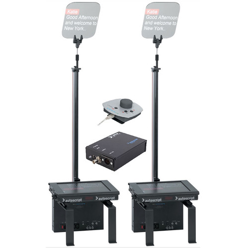 "Autoscript ESP-MRFS17PKG 17"" Dual Monitor Robotic Conference Stand Package"