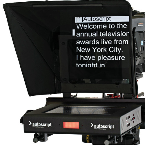 "Autoscript 12"" High-Bright LED Teleprompter with Folding Hood"