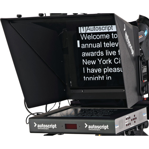 "Autoscript 15"" High-Bright LED Teleprompter with Folding Hood"