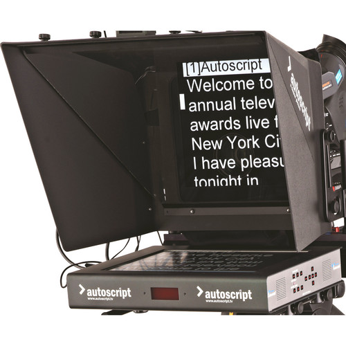 "Autoscript 15"" High-Bright LED Teleprompter with Molded Hood"