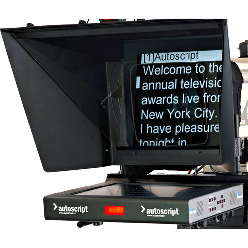 """Autoscript 17"""" High-Bright LED Teleprompter with Molded Hood"""