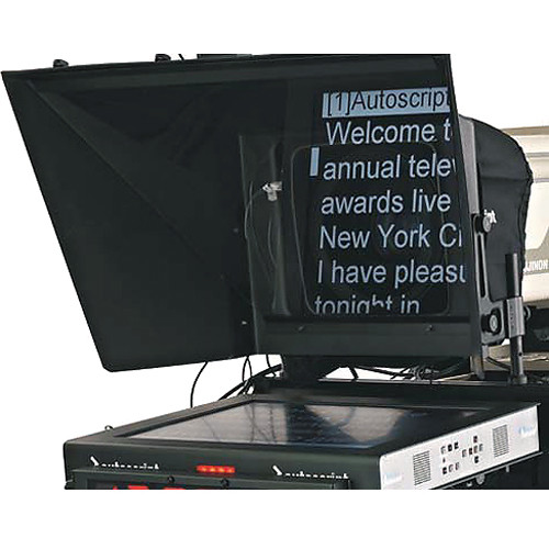 """Autoscript 19"""" High-Bright LED Teleprompter with Molded Hood"""