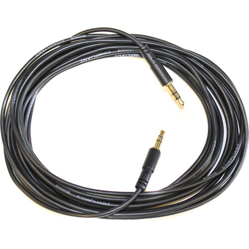 Autoscript 3.5mm Male-to-Male Cable for WP-REM WinPlus iPad Remote Prompting Software System (16.4')
