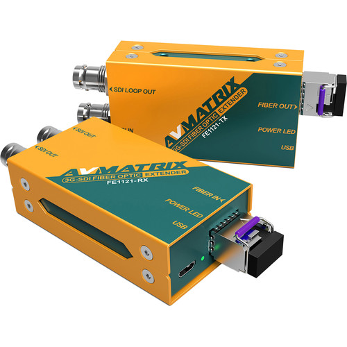 AVMATRIX 3G-SDI Fiber Optic Extender Transmitter & Receiver Set