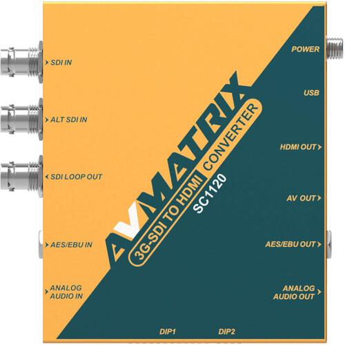 AV Matrix SC1120 3G-SDI to HDMI & AV Scaling Converter