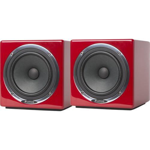 Avantone Pro Active MixCube Powered Full-Range Mini Reference Monitors (Pair, Red)