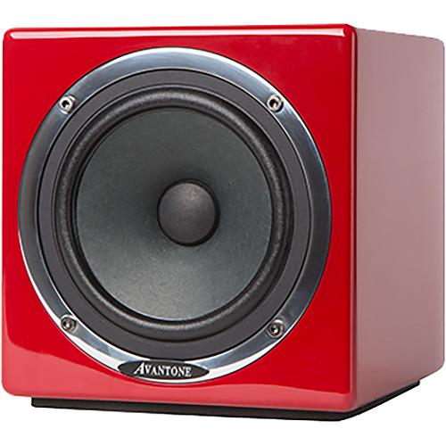 Avantone Pro Active MixCube Full-Range Mini Reference Monitor (Single, Red)