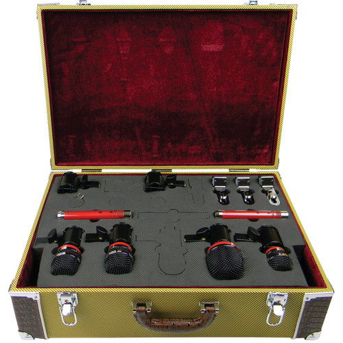 Avantone Pro TC1 Custom Locking Padded Heavy Duty Vintage Tweed Microphone Case