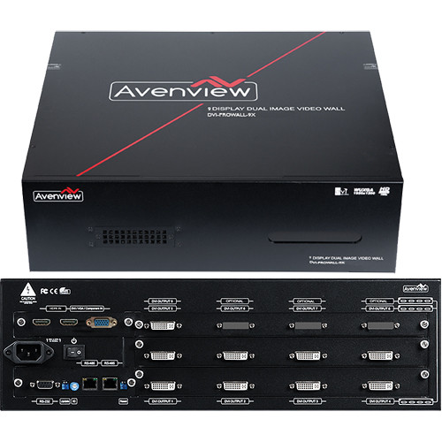 Avenview DVI-PROWALL-9X 9-Display Videowall Processor