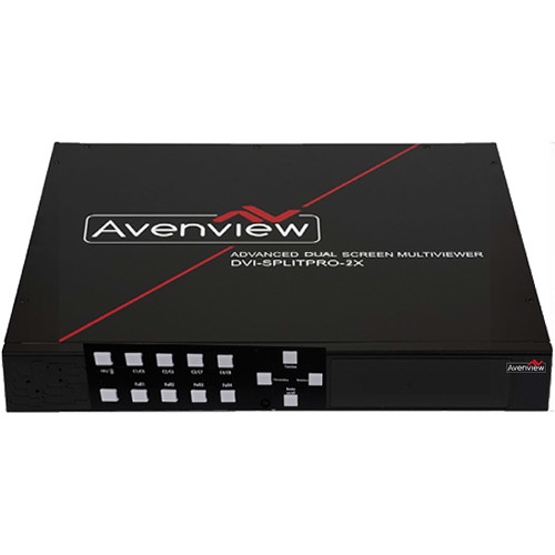 Avenview Dual-Screen Multiviewer with Rotation and Chromakey