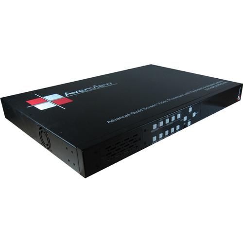 Avenview Quad Screen Video Processor with IR Remote Control